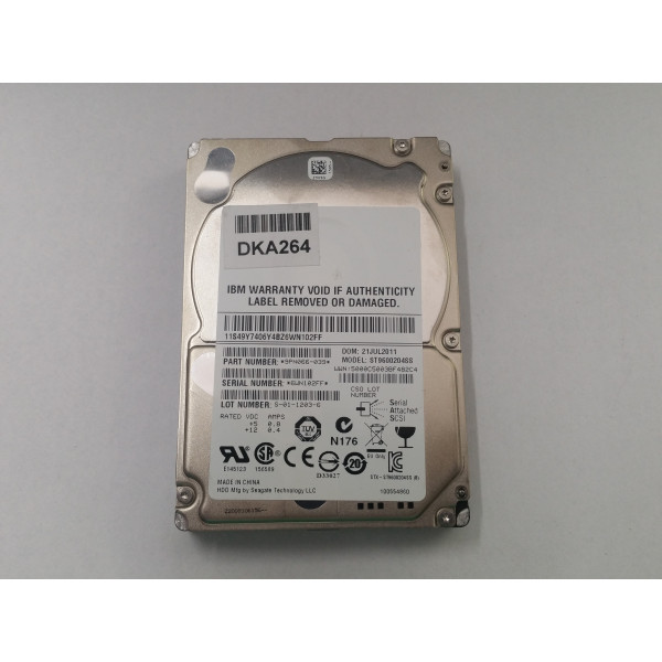 Hard disk server Seagate Savvio ST9600204SS 9PN066-039 600GB 10000 RPM 10K SAS 6Gb/s 2.5""